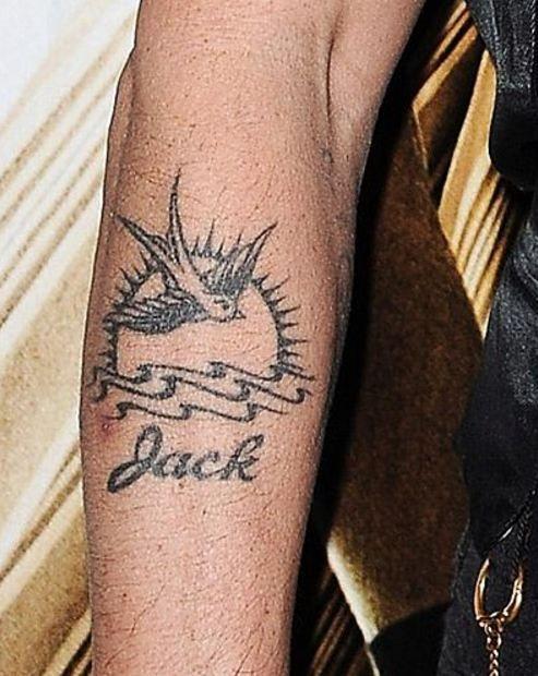 Johnny Depp Bird Tattoo