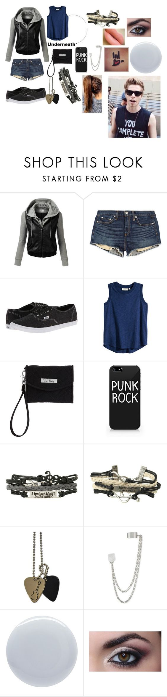 """[Request]Casual Date With Luke"" by sammierock ❤ liked on Polyvore featuring J.TOMSON, rag & bone/JEAN, Vans, H&M, Vera Bradley, French Connection, Deborah Lippmann and MAC Cosmetics"