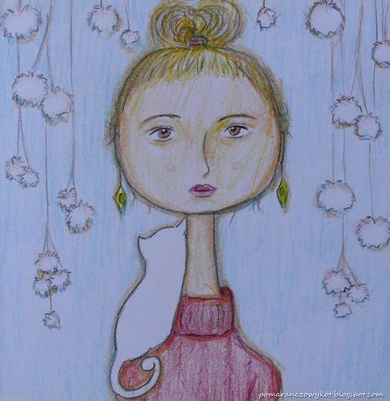 Pomaranczowy Kot: szkicownik 28/08/2016 Kobieta z kokiem