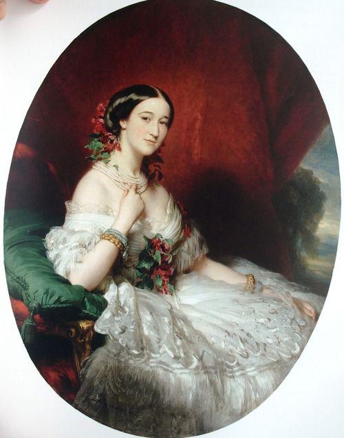 Francisca de Sales Portocarrero, XV Duquesa de Alba. 1860s. AKA Paca de Montijo, older sister of Empress Eugénie of France: