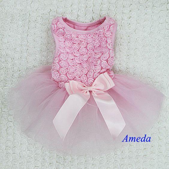Details about Light Pink Rosettes Elegant Rose Wedding Tutu Small ...