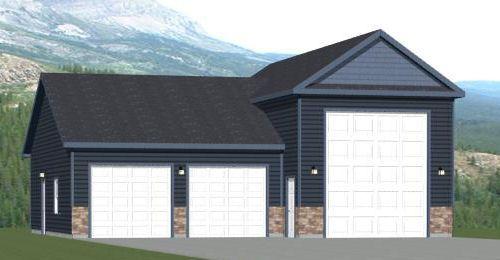 36x48 1 Rv 1 Car Garage 36x48g1 1600 Sq Ft Excellent Floor Plans Floor Plans Bungalow House Design