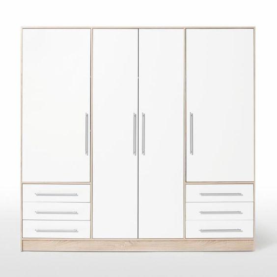 CORDOBA Armoire de chambre 120x60x200 cm gris CORDOBA Armoire de chambre