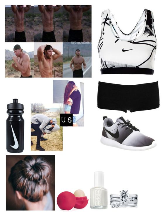 """""""Going On A Run With Dean"""" by caton-486 ❤ liked on Polyvore featuring BERRICLE, People Tree, NIKE, Eos, Essie and xO Design"""