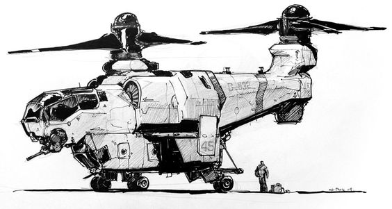 Concept spaceship art by Luke Mancini