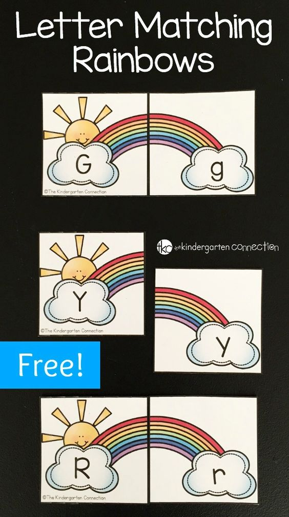 Match upper and lowercase letters, play memory, and more with this fun and free rainbow alphabet matching game!