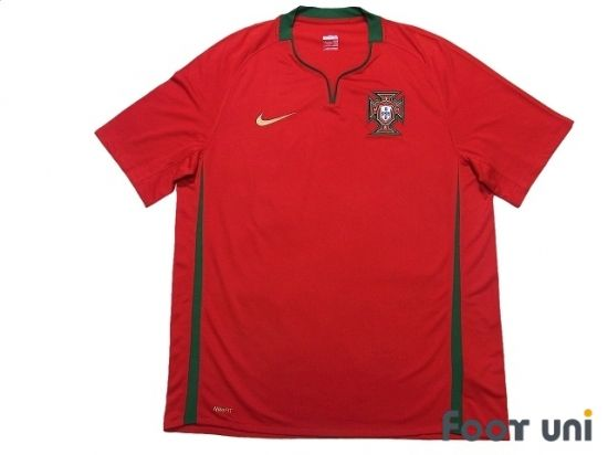 Portugal Euro 2008 Home Shirt In 2020 Vintage Football Shirts Retro Football Shirts Soccer Shirts