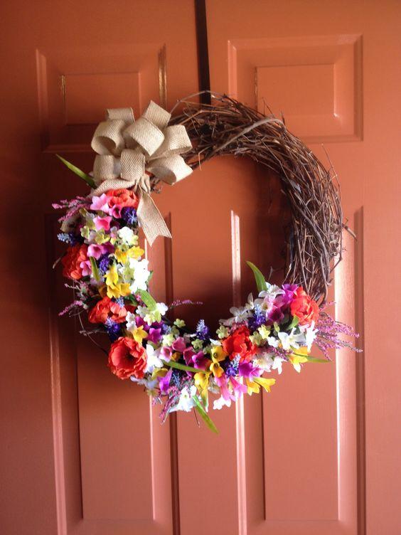 Spring wreath inspiration! #homemade #spring #wreaths