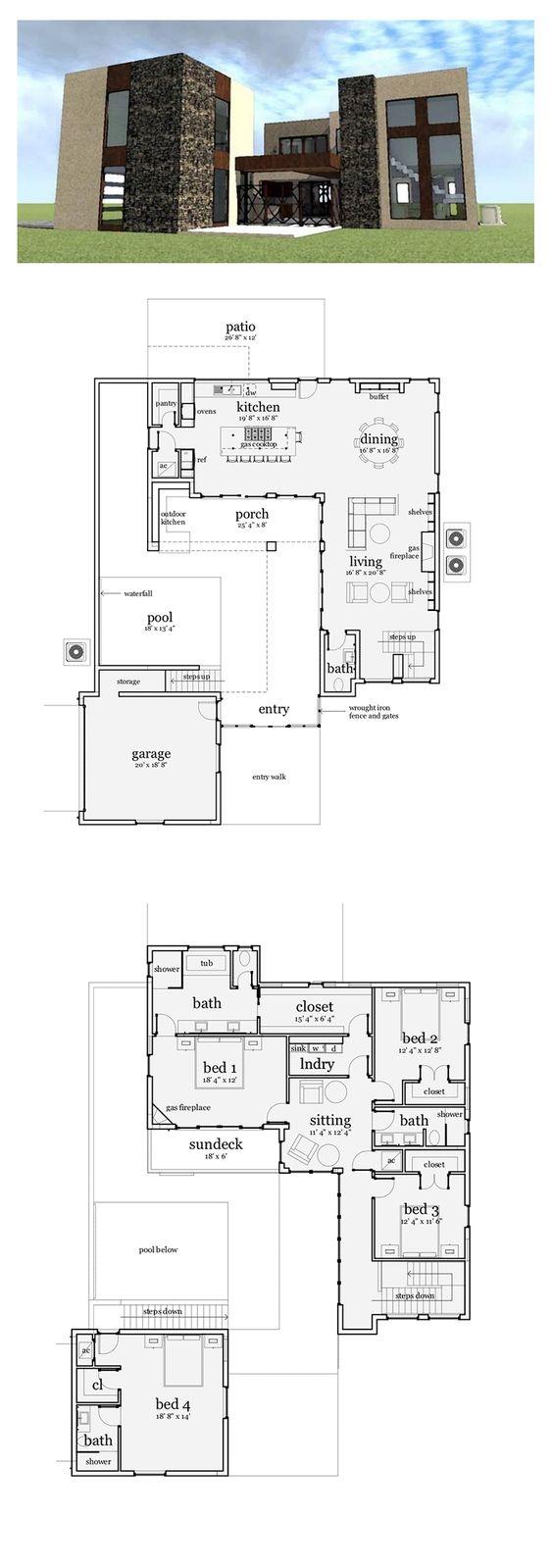 House, Modern houses and Modern house plans on Pinterest - ^