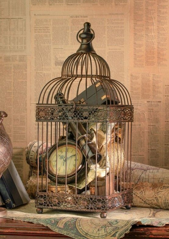 My FAVORITE Using Bird Cages For Decor: 46 Beautiful Ideas | DigsDigs Love this look