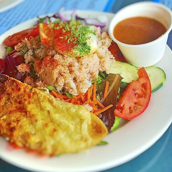 #healthy #lunch with crab #salad at Tognazzini's dockside, Morro bay #california :yum:  Follow my #travels and #recipes on PHILOSOKITCHEN.COM -