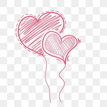 Hand Painted Pink Heart Shape Two Hearts Line Shape Heart Shape Two Hearts Love Png Transparent Clipart Image And Psd File For Free Download Heart Hands Drawing Love Png Pink Heart