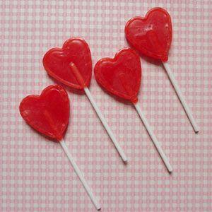 sucette coeur bonbon vintage - gourmandises fête d'anniversaire