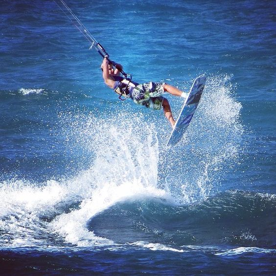"""I would rather die of passion  than of boredom."" V. Gogh.   Photo by www.kitexcite.com   #wakeupstoked #kitesurf"