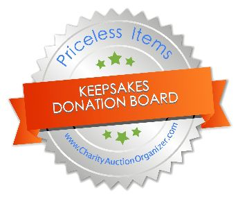 Keepsakes as Auction Items - Charity Auction Organizer User Guide - Charity Auction Organizer