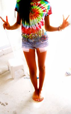 This Tie Dye Shirt With The Fringes Beads Is Such A Cute