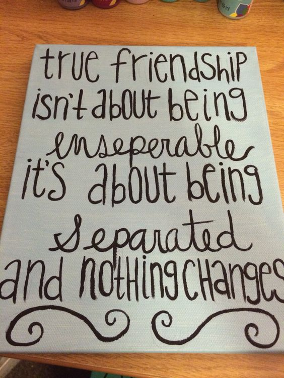 Friend Quotes On Canvas : Diy canvas best friend gift painting on