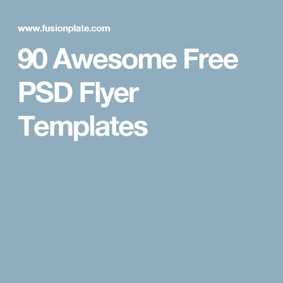 90 Awesome Free PSD Flyer Templates - azure flyer template