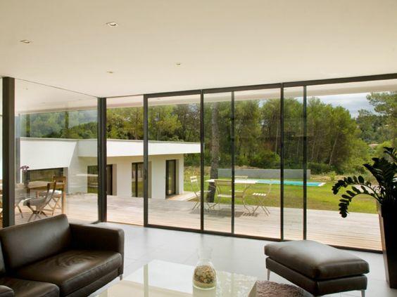 La baie vitr e 51 belles r alisations design for Fenetres maison moderne