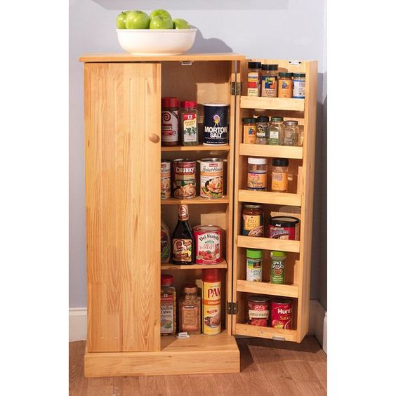 Simple Living Pine Utility Kitchen Pantry By Simple Living