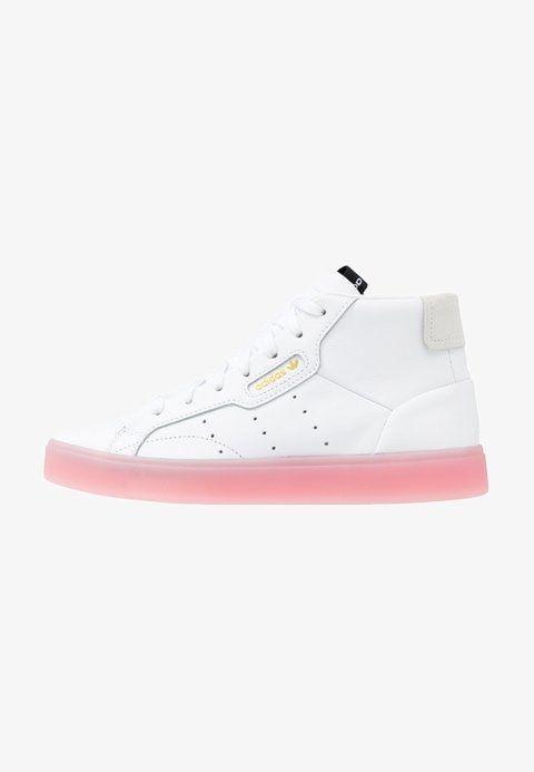 Sleek Mid Sneaker High Footwear White Diva Pink Zalando De