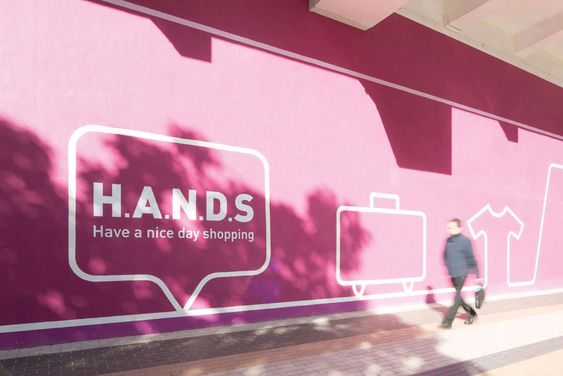 Wayfinding design and visual identity for the H.A.N.D.S Shopping Mall | Marc & Chantal