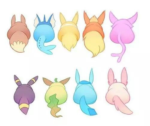 how to draw cute eevee evolutions