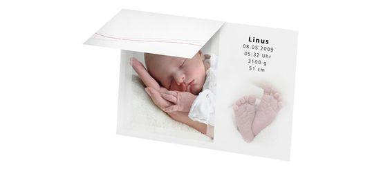 "Geburtskarte ""Fotostar"" - babysmile24.ch"