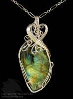 Autumn Leaf Labrorite Pendant by Nambroth
