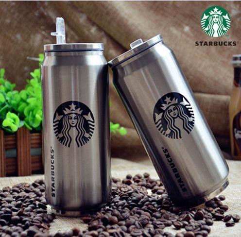 100% marca estrella bucks termo de acero inoxidable frasco Beverage Can garrafa termica 280 ML 420 ML 500 ML taza del vacío envío gratis en Botellas y Termos Al Vacío de Casa y Jardín en AliExpress.com | Alibaba Group
