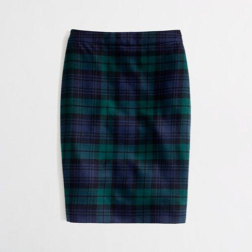 No.2 Pencil Skirt in Blackwatch Plaid | J.Crew Factory (Sz 4 - Tailored)