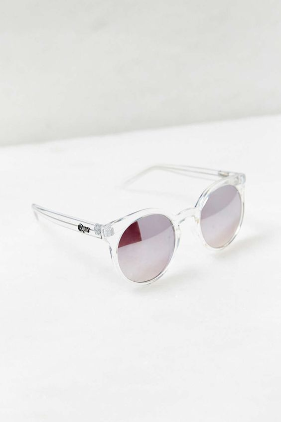 Quay Kosha Sunglasses in Clear: