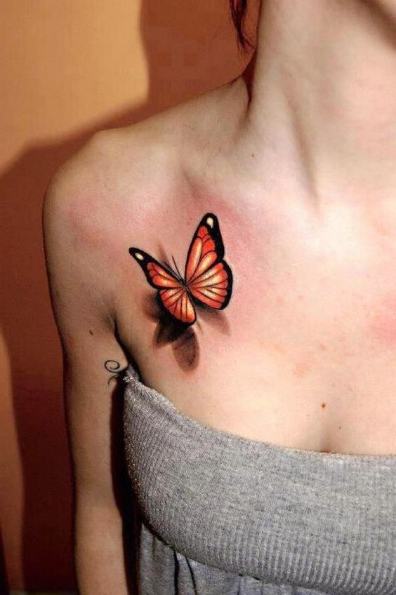 3d butterfly tattoo designss idea on chest wallpaper for Butterfly breast tattoos