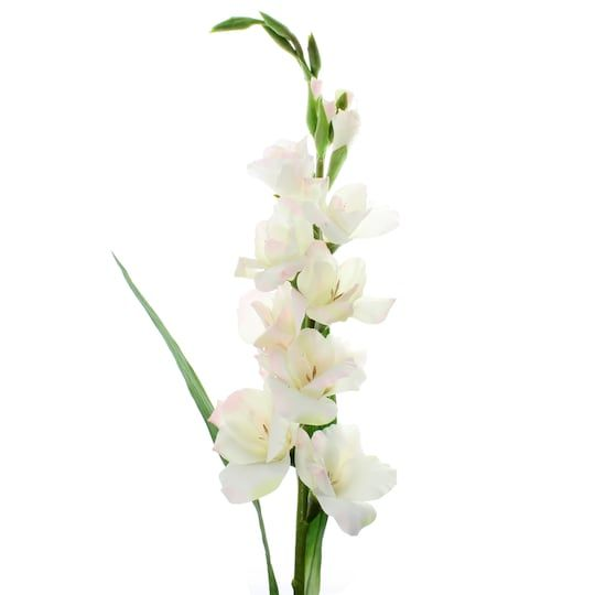 White Gladiolus Stem By Ashland In 2020 Gladiolus Artificial Flowers Blush Roses