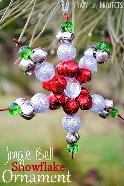 Jingle Bell Snowflake Ornament Tutorial