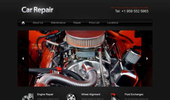 Car repair, Html templates and Templates on Pinterest - vehicle maintenance sheet template