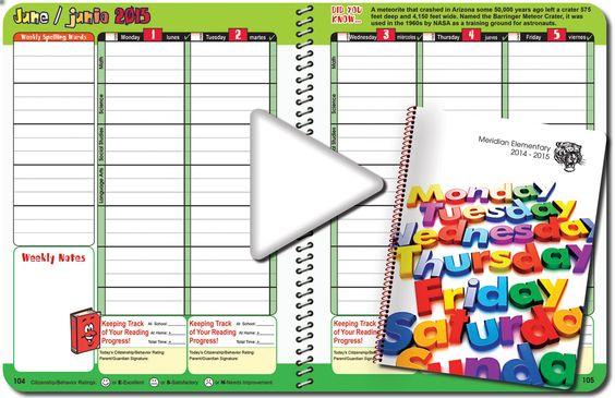 Meridian Student Planner Samples Sample Planners Pinterest - sample student agenda