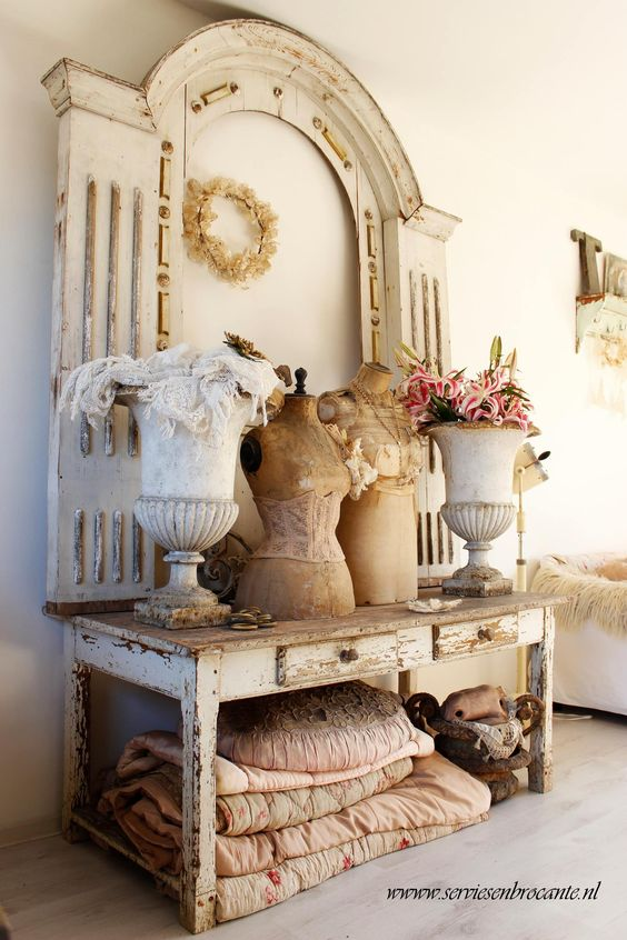 Chippy Whites With Shabbychic Architectural Elements
