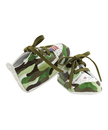 Another great find on #zulily! Olive & White Lil Commando Sneaker by Lil Tootsies #zulilyfinds