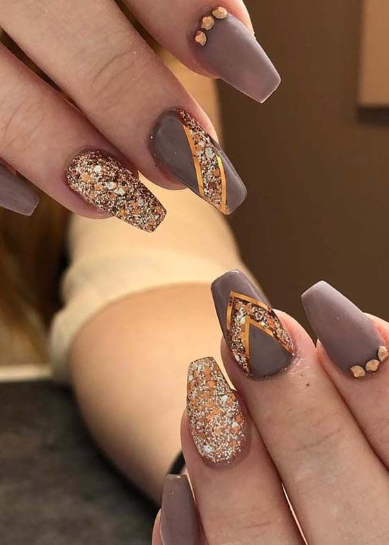 36 Fabulous Dark Beige Nail Polish Nail Arts In 2018 Beige Nails Classy Nail Designs Nail Arts