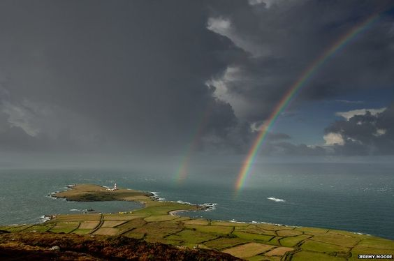 "On occasions the weather played its part. ""One morning I spent an hour on the Mynydd on Bardsey Island as showers passed to the north of me and the sun shone from the south,"" says Moore. ""A truly memorable experience."""