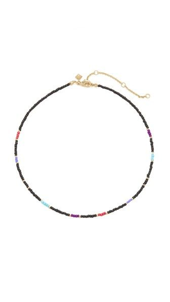 REBECCA MINKOFF Seed Bead Choker Necklace. #rebeccaminkoff #necklace