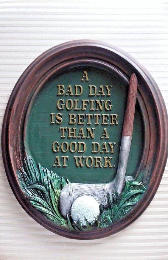 "Goose Creek 1997 3-D Golf Plaque ""Bad Day Golfing...Good Day At Work"" EUC #GooseCreek #Contemporary"
