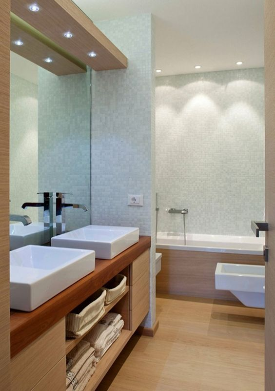 Lighting For Small Bathroom 10 Brilliant Ways To Renovate Small Bathrooms Bathrooms Brilliant Renovate Cozy Bathroom Modern Bathroom Bathroom Ceiling Small bathroom bathroom false ceiling