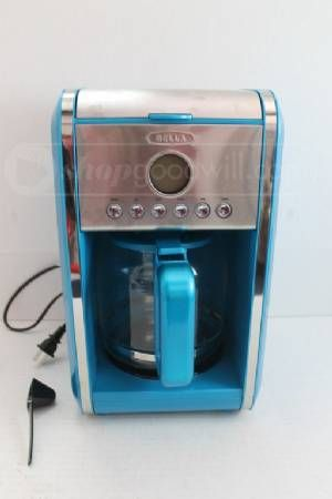 Blue Coffee Maker At Kohl S : Retro BELLA Metallic Baby Blue Coffee Maker For The Home Pinterest Coffee Maker, Baby Blue ...