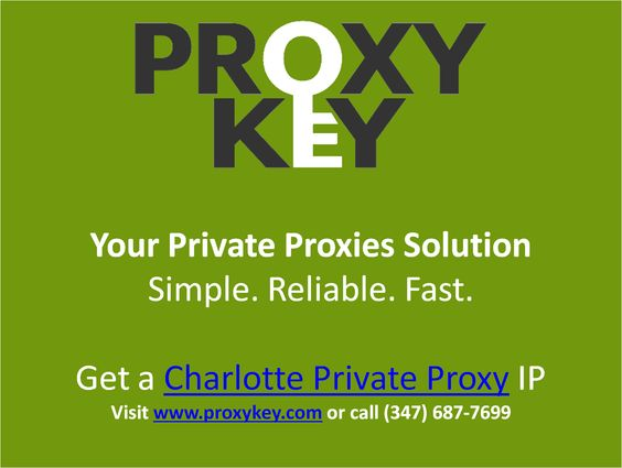 We provide high speed, dedicated private http proxies and unparalleled USA-based support. Give us a call at 347-68-PROXY and speak with a representative today! https://www.proxykey.com/nc-proxies.