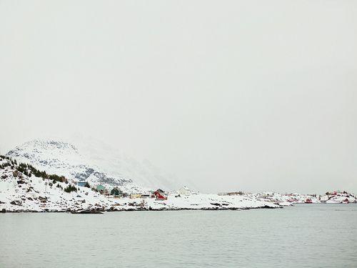 winter sea land