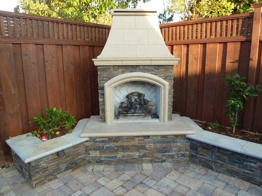 Outdoor Corner Fireplaces Fireplaces Firepits American