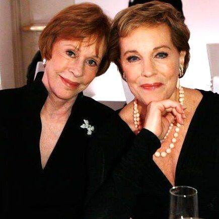 Photo of Julie Andrews & her friend  Carol Burnett