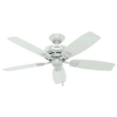 48 Sea Wind Damp Rated Ceiling Fan White Hunter Shop Ceiling Fans Ceiling Fan White Ceiling Fan